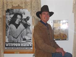 Michael Dante's moccasins worn in Winterhawk